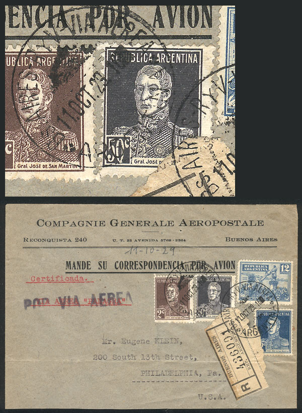 Lot 163 - Argentina postal history -  Guillermo Jalil - Philatino Auction # 2006 WORLDWIDE + ARGENTINA: Selection of covers of all periods, cards, postal stationeries and more!