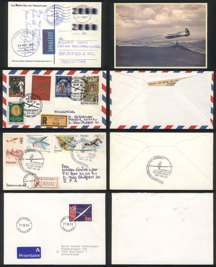 Lot 6 - topic aviation Lots and Collections -  Guillermo Jalil - Philatino Auction # 2006 WORLDWIDE + ARGENTINA: Selection of covers of all periods, cards, postal stationeries and more!