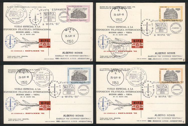 Lot 202 - Argentina postal history -  Guillermo Jalil - Philatino Auction # 2006 WORLDWIDE + ARGENTINA: Selection of covers of all periods, cards, postal stationeries and more!