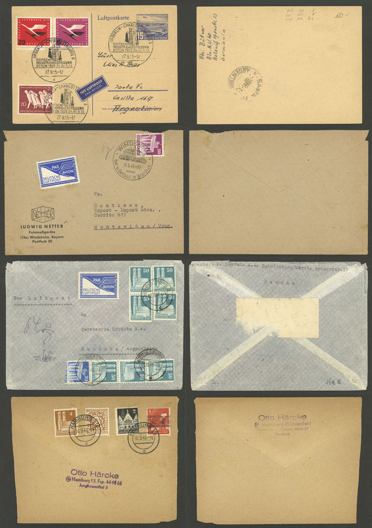Lot 61 - germany postal history -  Guillermo Jalil - Philatino Auction # 2006 WORLDWIDE + ARGENTINA: Selection of covers of all periods, cards, postal stationeries and more!