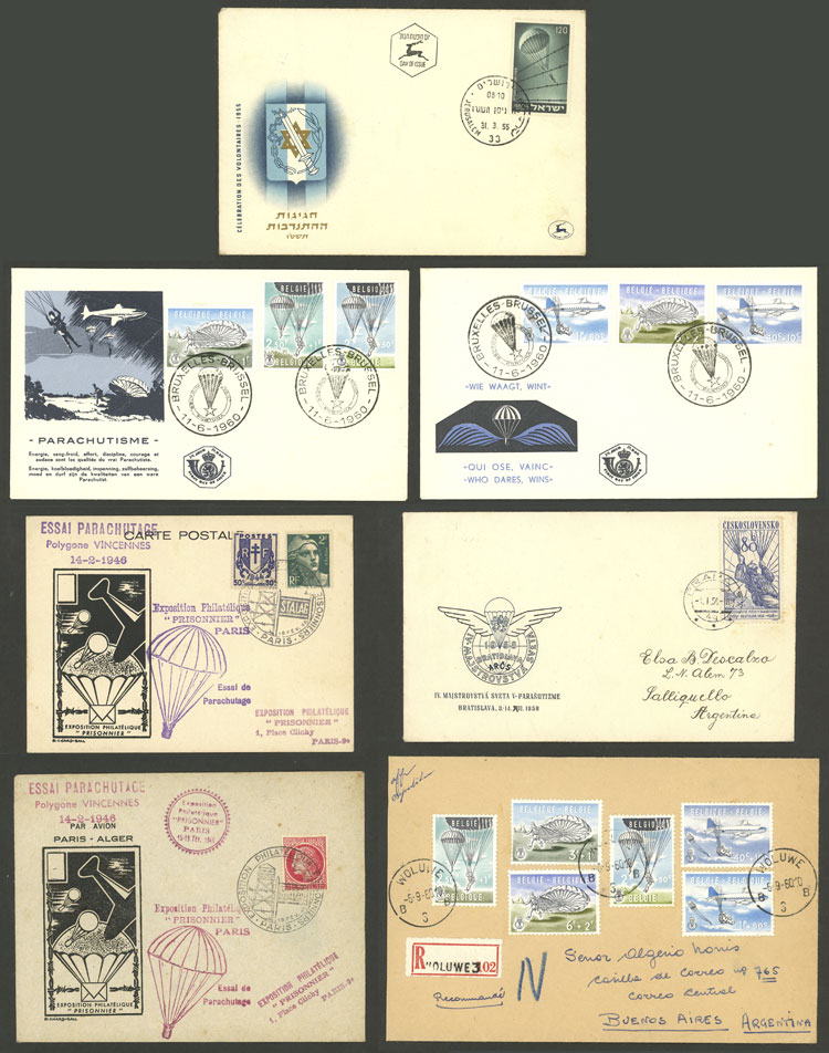 Lot 22 - TOPIC PARACHUTING Lots and Collections -  Guillermo Jalil - Philatino Auction # 2006 WORLDWIDE + ARGENTINA: Selection of covers of all periods, cards, postal stationeries and more!