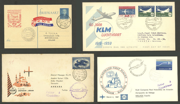 Lot 544 - Netherlands postal history -  Guillermo Jalil - Philatino Auction # 2006 WORLDWIDE + ARGENTINA: Selection of covers of all periods, cards, postal stationeries and more!