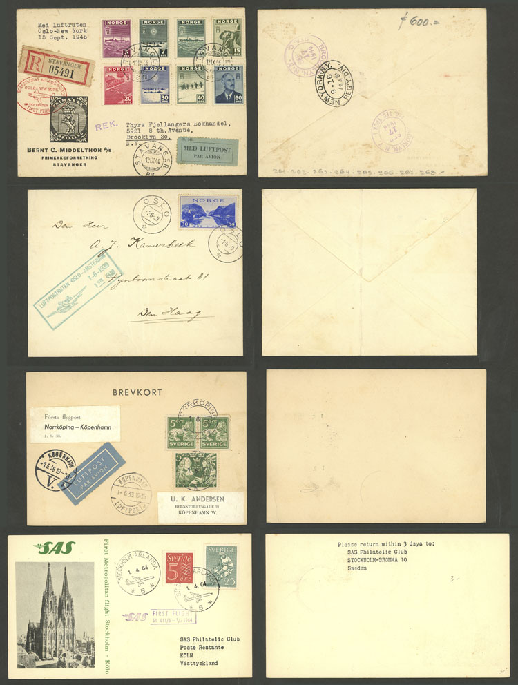 Lot 446 - scandinavia postal history -  Guillermo Jalil - Philatino Auction # 2006 WORLDWIDE + ARGENTINA: Selection of covers of all periods, cards, postal stationeries and more!