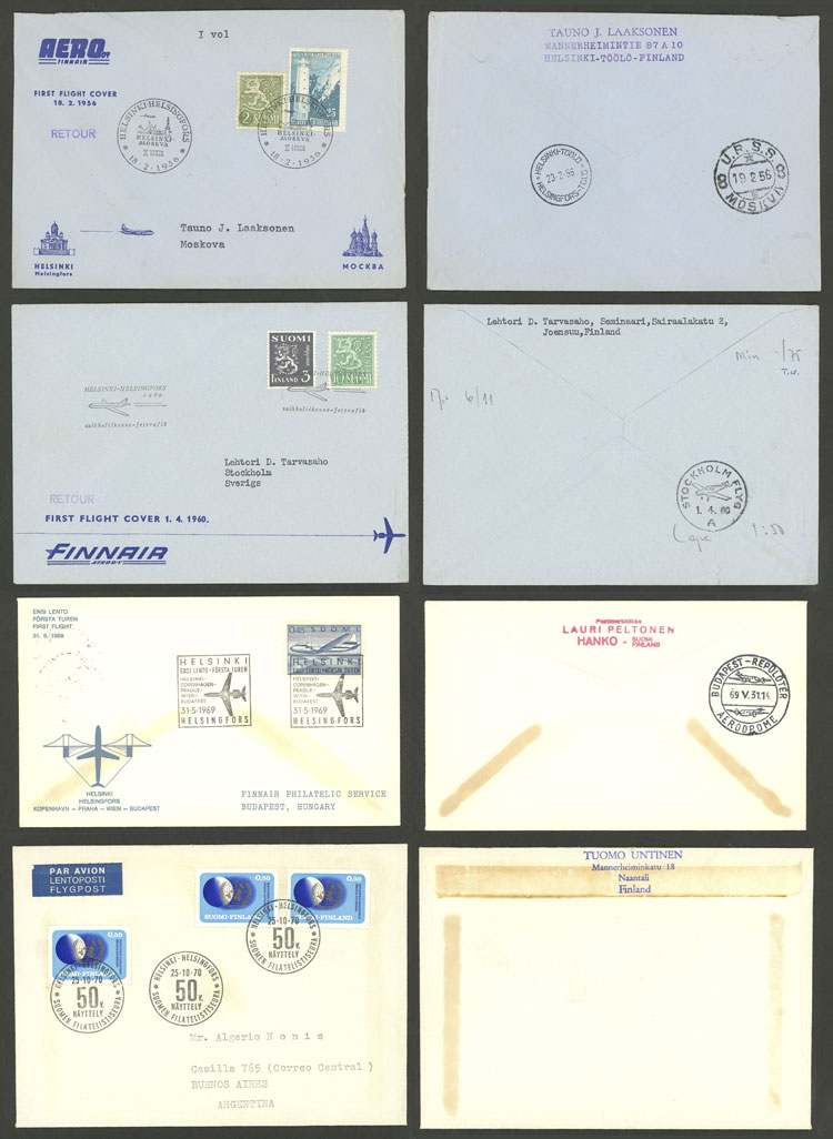 Lot 485 - finland postal history -  Guillermo Jalil - Philatino Auction # 2006 WORLDWIDE + ARGENTINA: Selection of covers of all periods, cards, postal stationeries and more!