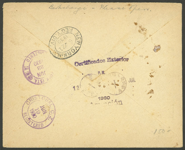 Lot 728 - Paraguay postal history -  Guillermo Jalil - Philatino Auction # 2006 WORLDWIDE + ARGENTINA: Selection of covers of all periods, cards, postal stationeries and more!