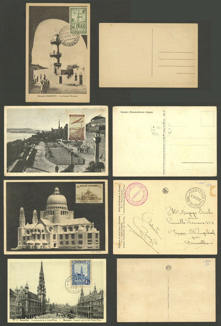 Lot 2 - TOPIC ARCHITECTURE Lots and Collections -  Guillermo Jalil - Philatino Auction # 2006 WORLDWIDE + ARGENTINA: Selection of covers of all periods, cards, postal stationeries and more!