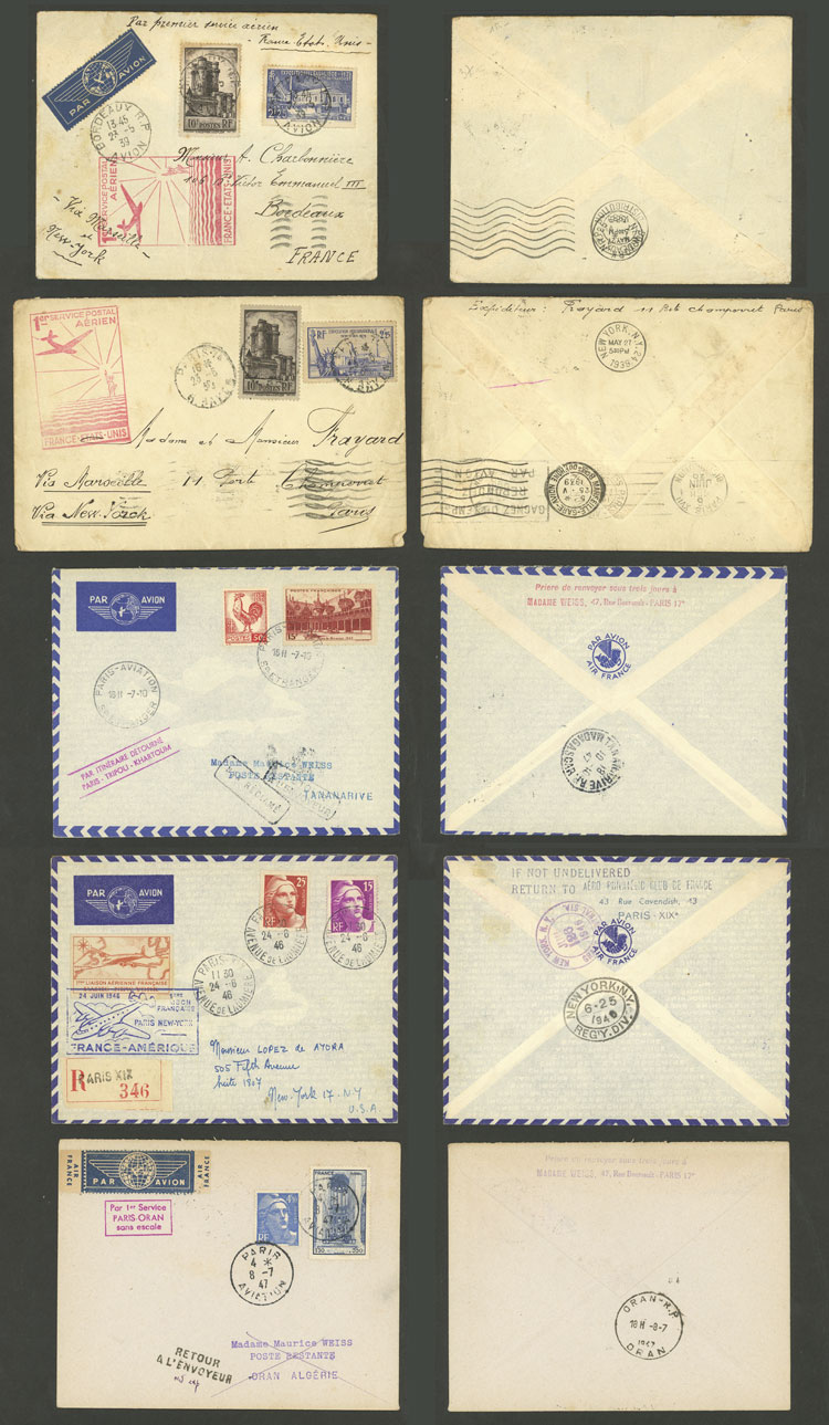 Lot 501 - France postal history -  Guillermo Jalil - Philatino Auction # 2006 WORLDWIDE + ARGENTINA: Selection of covers of all periods, cards, postal stationeries and more!