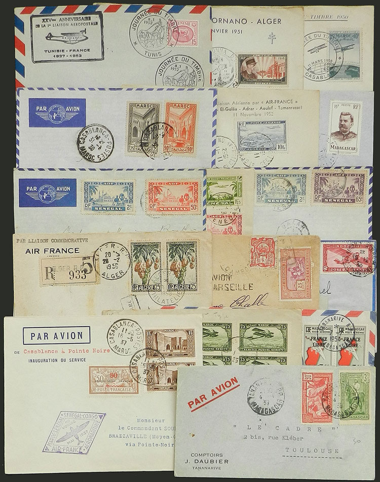 Lot 427 - french colonies postal history -  Guillermo Jalil - Philatino Auction # 2006 WORLDWIDE + ARGENTINA: Selection of covers of all periods, cards, postal stationeries and more!
