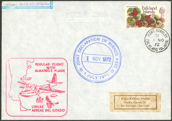 Lot 665 - falkland islands/malvinas postal history -  Guillermo Jalil - Philatino Auction # 2006 WORLDWIDE + ARGENTINA: Selection of covers of all periods, cards, postal stationeries and more!