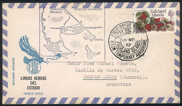 Lot 667 - falkland islands/malvinas postal history -  Guillermo Jalil - Philatino Auction # 2006 WORLDWIDE + ARGENTINA: Selection of covers of all periods, cards, postal stationeries and more!