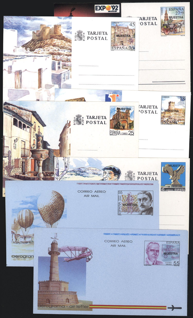 Lot 451 - Spain Postal stationery -  Guillermo Jalil - Philatino Auction # 2006 WORLDWIDE + ARGENTINA: Selection of covers of all periods, cards, postal stationeries and more!