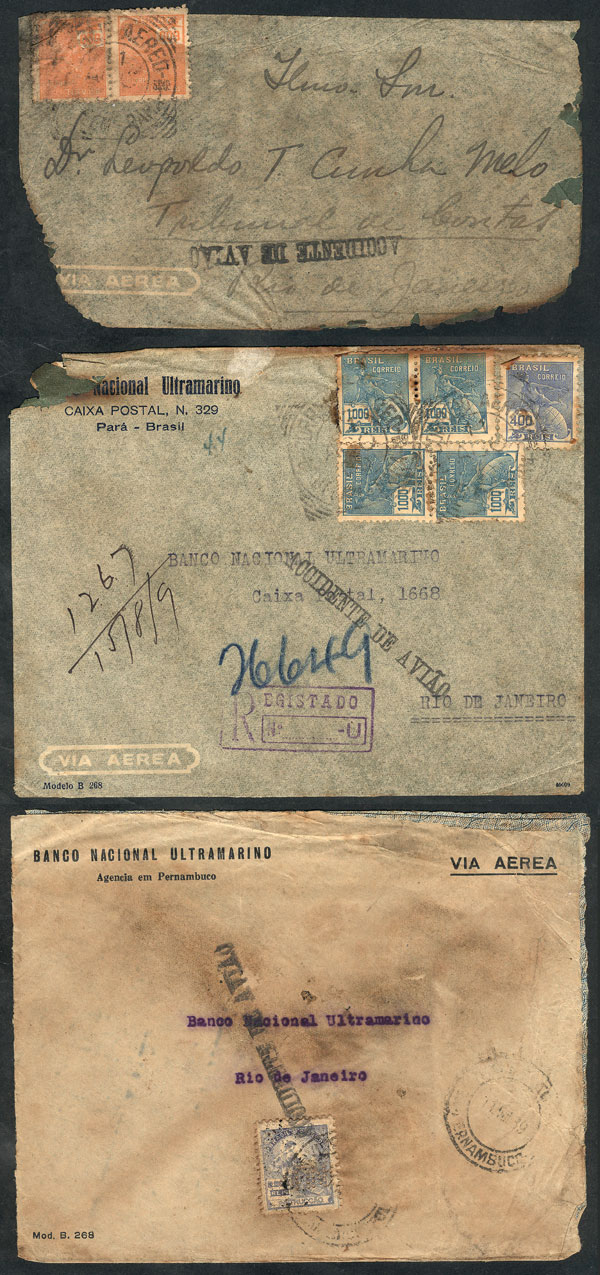 Lot 359 - brazil postal history -  Guillermo Jalil - Philatino Auction # 2006 WORLDWIDE + ARGENTINA: Selection of covers of all periods, cards, postal stationeries and more!