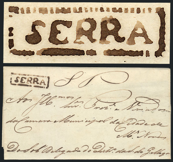 Lot 297 - brazil postal history -  Guillermo Jalil - Philatino Auction # 2006 WORLDWIDE + ARGENTINA: Selection of covers of all periods, cards, postal stationeries and more!