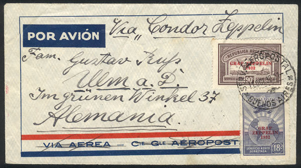 Lot 172 - Argentina postal history -  Guillermo Jalil - Philatino Auction # 2006 WORLDWIDE + ARGENTINA: Selection of covers of all periods, cards, postal stationeries and more!