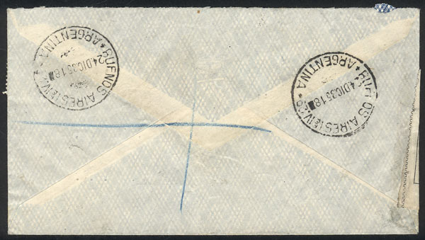 Lot 176 - Argentina postal history -  Guillermo Jalil - Philatino Auction # 2006 WORLDWIDE + ARGENTINA: Selection of covers of all periods, cards, postal stationeries and more!