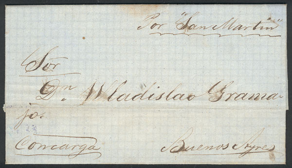 Lot 135 - Argentina postal history -  Guillermo Jalil - Philatino Auction # 2006 WORLDWIDE + ARGENTINA: Selection of covers of all periods, cards, postal stationeries and more!