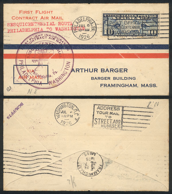 Lot 476 - united states postal history -  Guillermo Jalil - Philatino Auction # 2006 WORLDWIDE + ARGENTINA: Selection of covers of all periods, cards, postal stationeries and more!