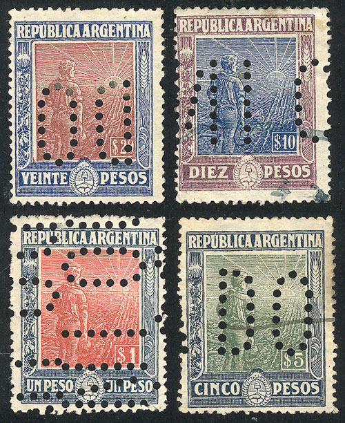 Lot 312 - Argentina general issues -  Guillermo Jalil - Philatino Auction # 2007  ARGENTINA: small but very attractive auction