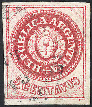 Lot 50 - Argentina escuditos -  Guillermo Jalil - Philatino Auction # 2007  ARGENTINA: small but very attractive auction