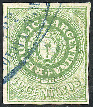 Lot 47 - Argentina escuditos -  Guillermo Jalil - Philatino Auction # 2007  ARGENTINA: small but very attractive auction