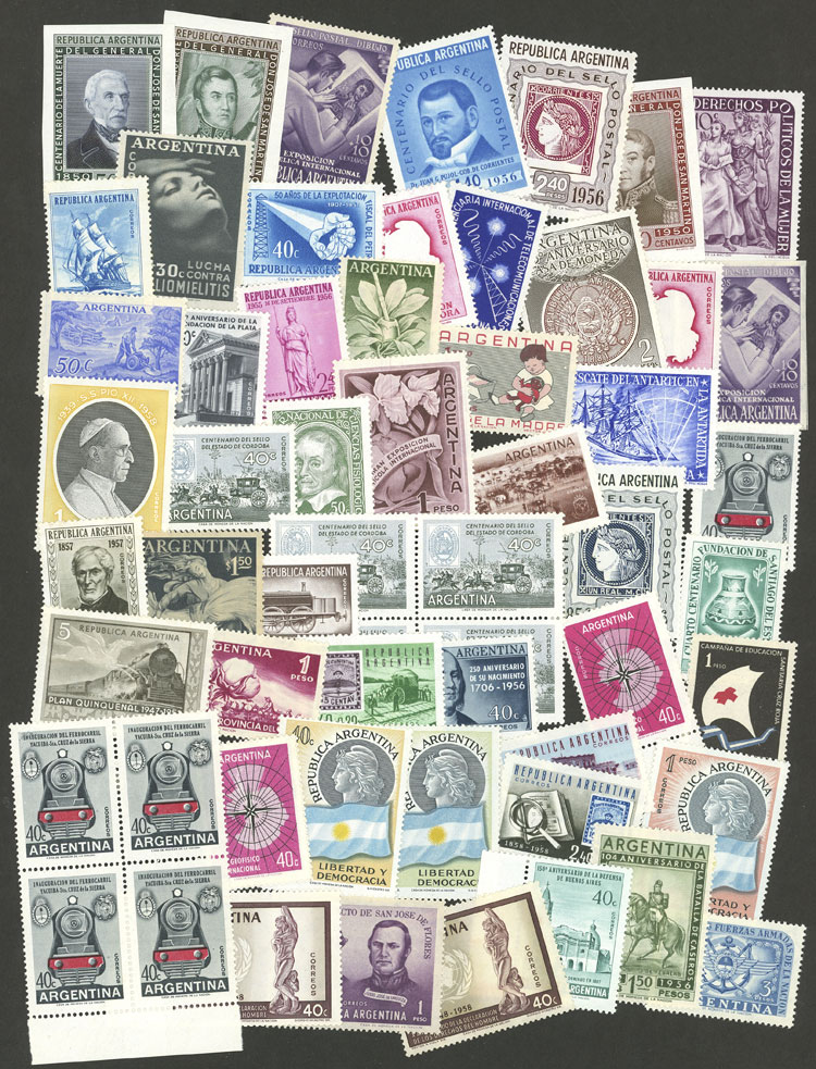 Lot 1079 - Argentina Lots and Collections -  Guillermo Jalil - Philatino Auction # 2007  ARGENTINA: small but very attractive auction