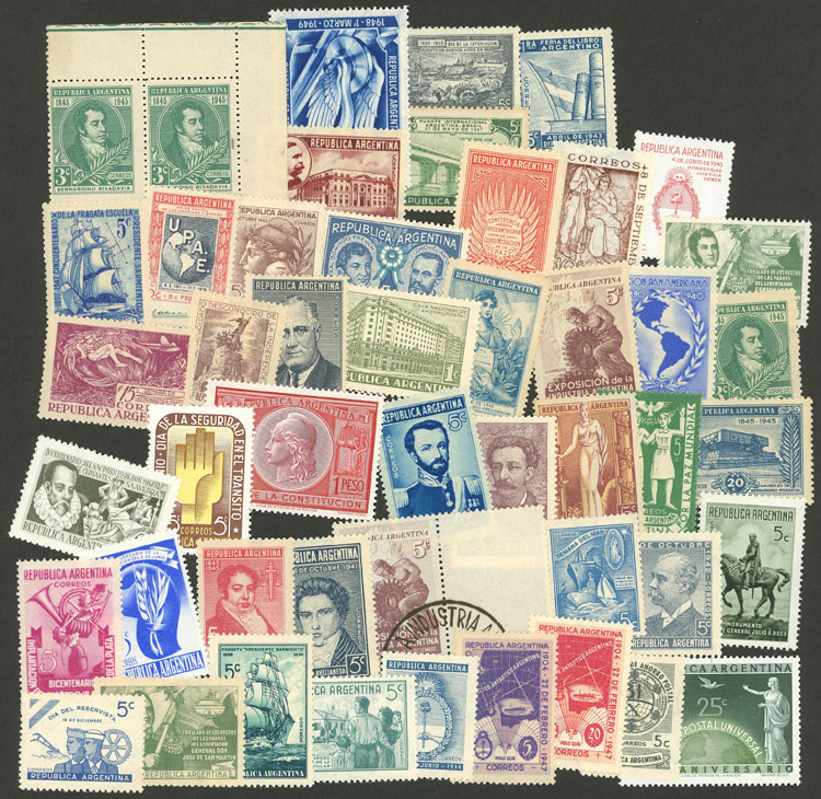 Lot 1078 - Argentina Lots and Collections -  Guillermo Jalil - Philatino Auction # 2007  ARGENTINA: small but very attractive auction