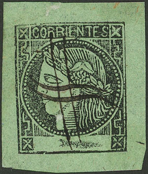 Lot 10 - Argentina corrientes -  Guillermo Jalil - Philatino Auction # 2007  ARGENTINA: small but very attractive auction