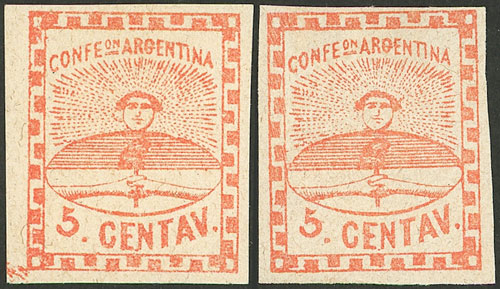 Lot 24 - Argentina confederation -  Guillermo Jalil - Philatino Auction # 2007  ARGENTINA: small but very attractive auction