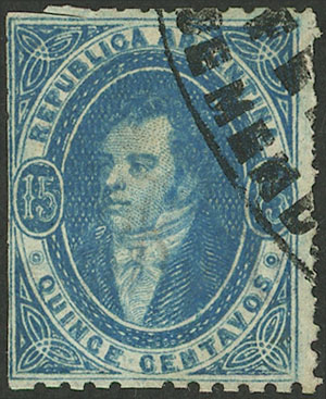 Lot 81 - Argentina rivadavias -  Guillermo Jalil - Philatino Auction # 2007  ARGENTINA: small but very attractive auction