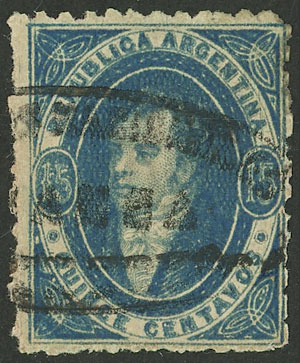 Lot 78 - Argentina rivadavias -  Guillermo Jalil - Philatino Auction # 2007  ARGENTINA: small but very attractive auction