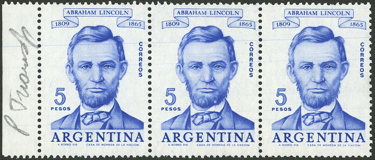 Lot 823 - Argentina general issues -  Guillermo Jalil - Philatino Auction # 2007  ARGENTINA: small but very attractive auction