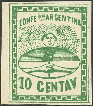 Lot 30 - Argentina confederation -  Guillermo Jalil - Philatino Auction # 2007  ARGENTINA: small but very attractive auction