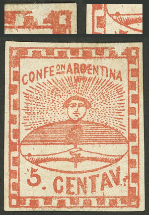 Lot 25 - Argentina confederation -  Guillermo Jalil - Philatino Auction # 2007  ARGENTINA: small but very attractive auction