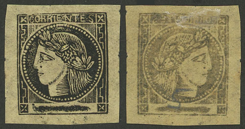 Lot 12 - Argentina corrientes -  Guillermo Jalil - Philatino Auction # 2007  ARGENTINA: small but very attractive auction