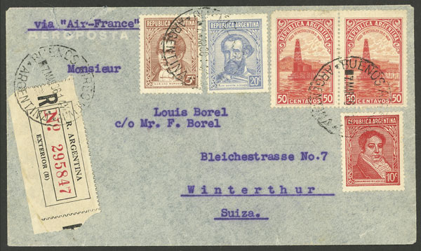 Lot 1062 - Argentina postal history -  Guillermo Jalil - Philatino Auction # 2007  ARGENTINA: small but very attractive auction
