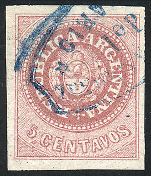 Lot 45 - Argentina escuditos -  Guillermo Jalil - Philatino Auction # 2007  ARGENTINA: small but very attractive auction