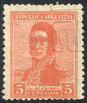 Lot 289 - Argentina general issues -  Guillermo Jalil - Philatino Auction # 2008 ARGENTINA: