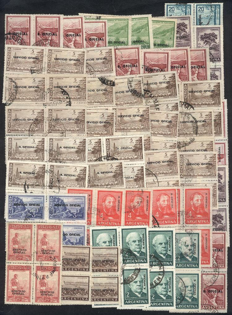 Lot 1126 - Argentina official stamps -  Guillermo Jalil - Philatino Auction # 2008 ARGENTINA: