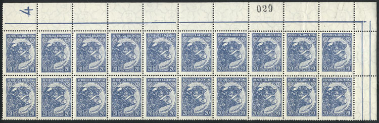 Lot 353 - Argentina general issues -  Guillermo Jalil - Philatino Auction # 2008 ARGENTINA: