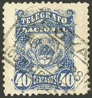 Lot 1132 - Argentina telegraph stamps -  Guillermo Jalil - Philatino Auction # 2008 ARGENTINA: