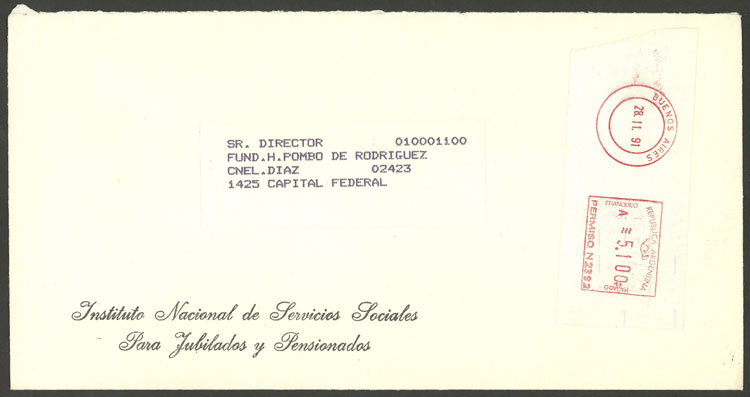 Lot 1203 - Argentina postal history -  Guillermo Jalil - Philatino Auction # 2008 ARGENTINA: