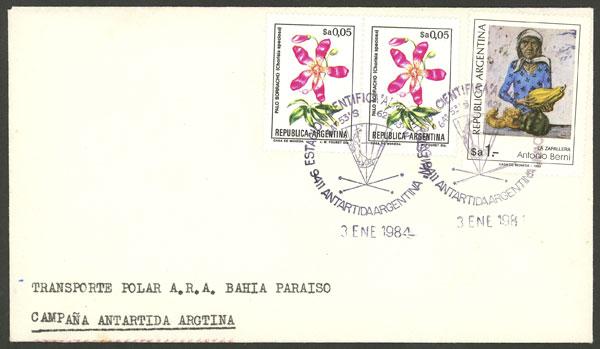 Lot 6 - argentine antarctica postal history -  Guillermo Jalil - Philatino Auction # 2008 ARGENTINA: