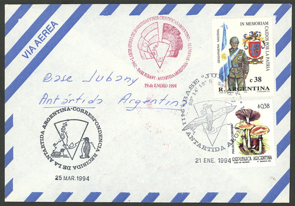 Lot 7 - argentine antarctica postal history -  Guillermo Jalil - Philatino Auction # 2008 ARGENTINA: