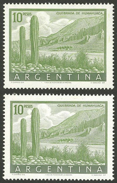 Lot 595 - Argentina general issues -  Guillermo Jalil - Philatino Auction # 2008 ARGENTINA: