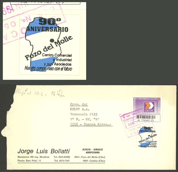 Lot 1247 - Argentina cinderellas -  Guillermo Jalil - Philatino Auction # 2008 ARGENTINA: