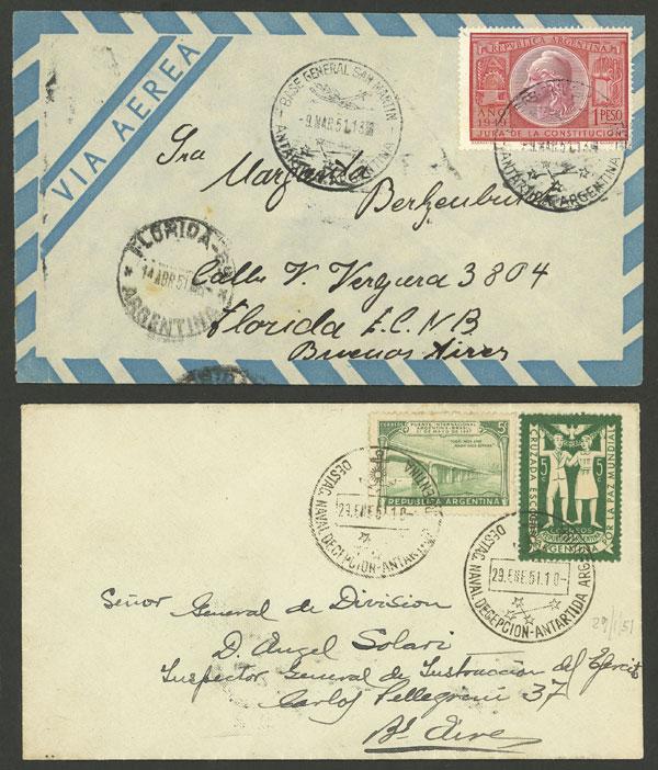Lot 3 - argentine antarctica postal history -  Guillermo Jalil - Philatino Auction # 2008 ARGENTINA: