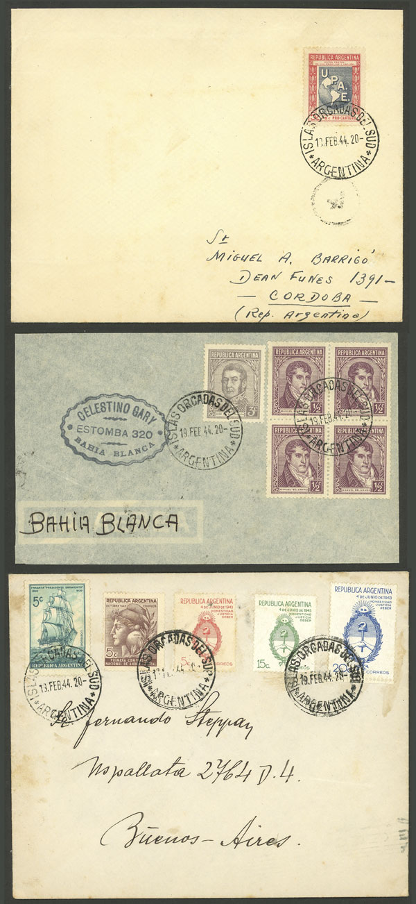 Lot 9 - ARGENTINE ANTARCTICA (ISLAS ORCADAS) postal history -  Guillermo Jalil - Philatino Auction # 2008 ARGENTINA: