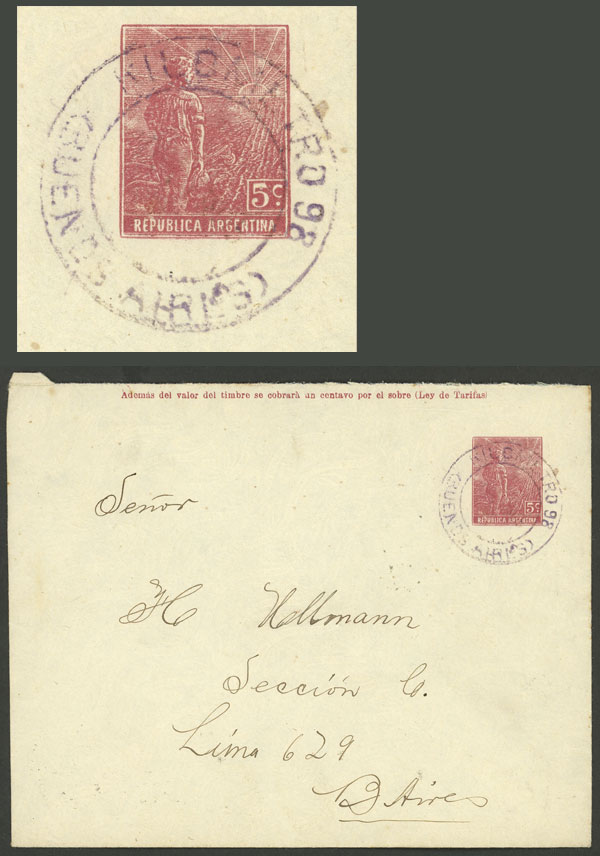 Lot 1167 - Argentina postal history -  Guillermo Jalil - Philatino Auction # 2008 ARGENTINA: