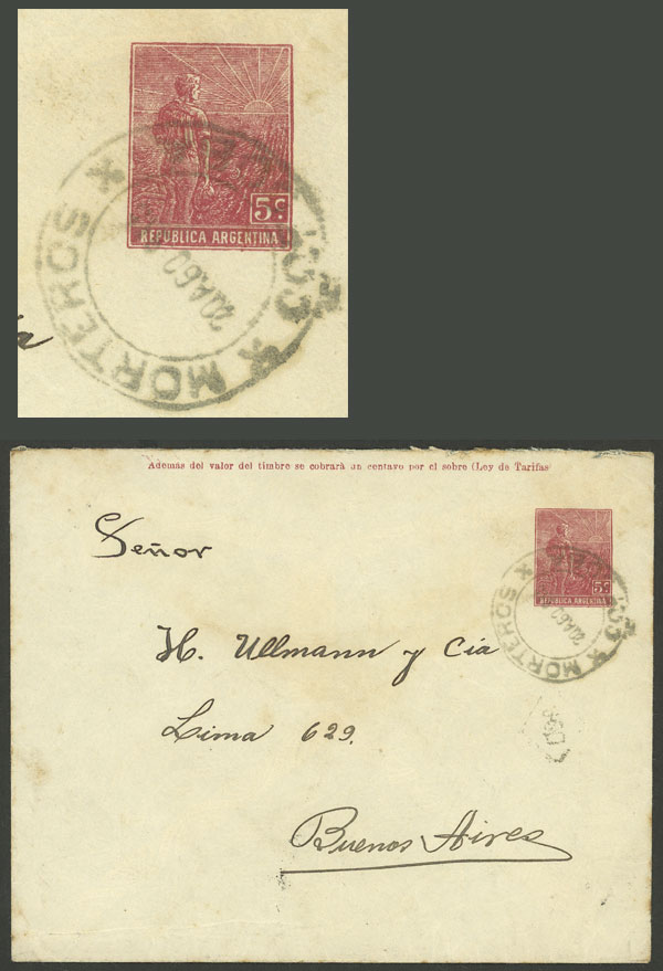 Lot 1168 - Argentina postal history -  Guillermo Jalil - Philatino Auction # 2008 ARGENTINA: