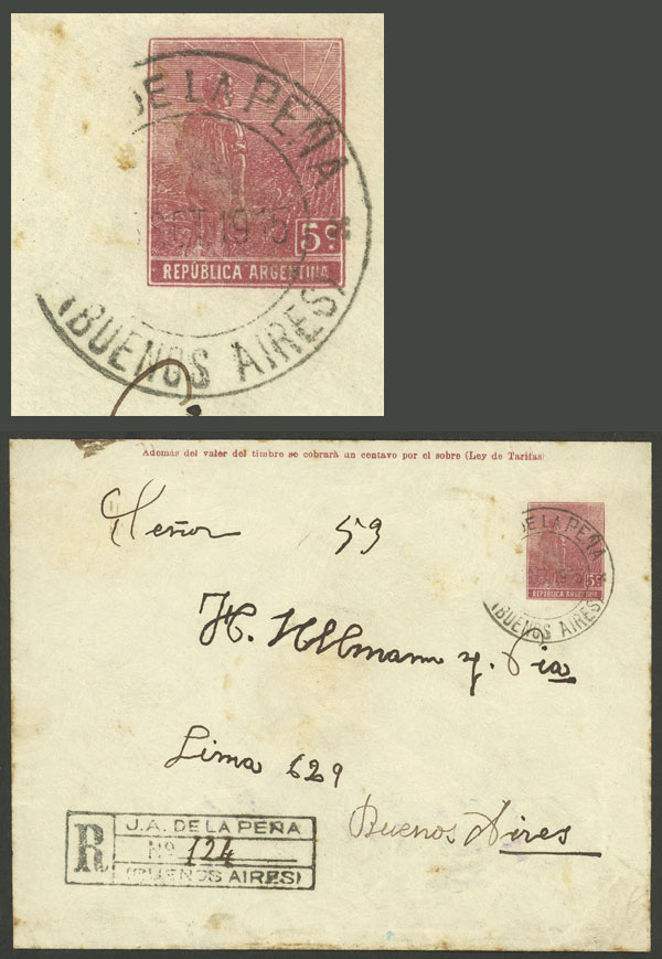 Lot 1169 - Argentina postal history -  Guillermo Jalil - Philatino Auction # 2008 ARGENTINA: